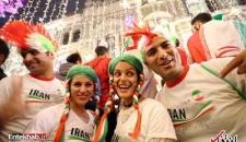 تصاویر : شور و شوق هواداران تیم ملی فوتبال ایران در روسیه
