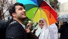 تصاویر دیدنی جشن ازدواج برفی 200 زوج در دانشگاه تهران!
