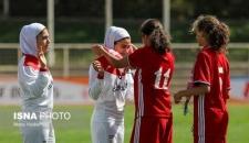 دیدار دوستانه فوتبال جوانان دختر ایران و اردن (عکس)